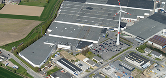 Head Office – Showroom - Production<br />Surface: 141.500 m<sup>2</sup>